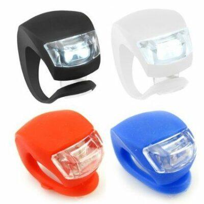 Φως ποδηλάτου από ελαστική σιλικόνη με δέσιμο τύπου Βατραχάκι LED  - HAIJU HJ009
