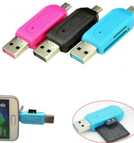 USB Card Reader αντάπτορας USB με υποδοχή κάρτα micro usb  - 523641 OTG