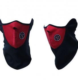 Αθλητική σπορ μάσκα για ποδήλατο / σκι, με ενεργό φίλτρο αέρα κόκκινη  - EULOGISE