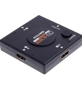 HDMI switch 3 port input, 1 port output με κουμπιά επιλογής εξόδου - L450 OEM