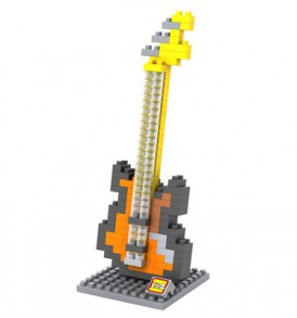 Ηλεκτρική Κιθάρα / Τριδιάστατο Puzzle με μουσικά όργανα, 160 κομμάτια -GTR256  LOZ