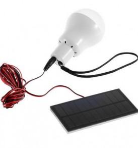 Ηλιακή λάμπα LED USB με ηλιακό πάνελ,κατάλληλη για κάμπινγκ - K.BOL