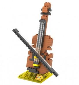Βιολί / Τριδιάστατο Puzzle με μουσικα όργανα  με βάση, 160 κομμάτια  - VL23 LOZ