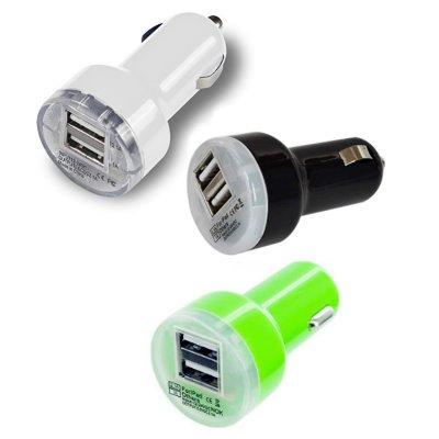 2x Διπλός USB φορτιστής αυτοκινήτου in.12V-24V / out 5V / 2A,1A  -  HHT-003  OEM