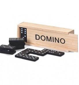 Επιτραπέζιο παιχνίδι Domino μέσα σε θήκη ξύλινης συσκευασίας - ΟΕΜ