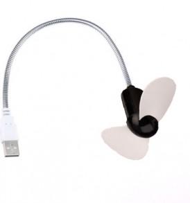 USB Ανεμιστηράκι με ευλίγιστο κορμό για Laptop, PC η Power Bank HW-008 - OEM