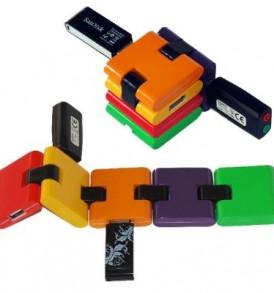 Σπαστό αναδιπλόμενο,πολύχρωμμο 4 port USB 2.0 Hub, Colorful  -  M405  Minim