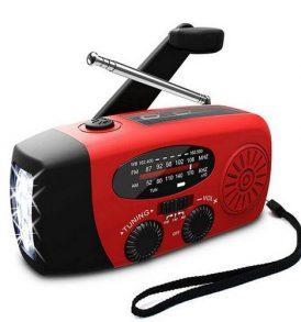 Ηλιακό/χειροκίνητο ραδιόφωνο,φακός,Φορτιστής τηλεφώνου κ συσκευών - C41 OEM