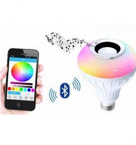 Λάμπα bluetooth LED με ηχείο,αλλάζει χρώματα,παίζει μουσική - GYML2 OEM