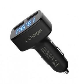 3.1A, ισχυρός διπλός USB ταχυφορτιστής αυτοκινήτου με φωτεινή ένδειξη - ΒΚ31 OEM