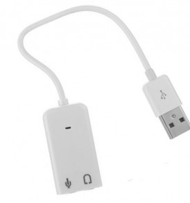 Fab Sublime 3D USB Plug & Play,  Εξωτερική κάρτα ήχου 7.1CH με καλώδιο  -  SB309  OEM