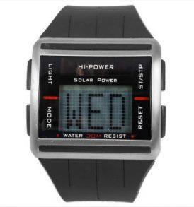 Ηλεκτρονικό ρολόι ρετρό ,ηλιακό/μπαταρίας,μεγάλη οθόνη με scroll - RE0615F HiPower
