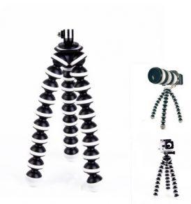 Τριπόδι και stand εύκαμπτο για κάμερα και action camera με αντάπτορες - Octapus 201 - OEM