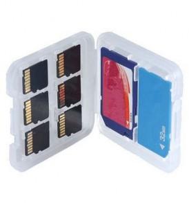 Φορητή θήκη φύλαξης και μεταφοράς καρτών μνήμης,SD/MS/Micro SD - 06SB OEM