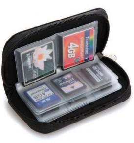 Φορητή θήκη φύλαξης και μεταφοράς 22 καρτών μνήμης,SD,TF,CF,SDHC,micro - P22 OEM