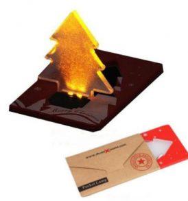 Αυτοφωτιζόμενη αναδιπλόμενη κάρτα  Χριστουγέννων - C01 DCULEX