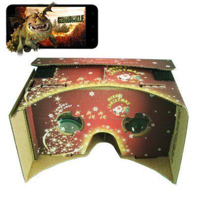 Χριστουγεννιάτικα DIY VR 3D Cardboard γυαλιά για Google,παιχνίδια - CH3 OEM
