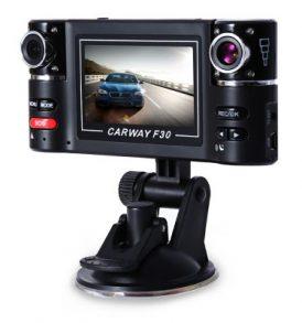 Double Car camera, διπλή κάμερα  καταγραφικό αυτοκινήτου με IR - Carway F30 OEM