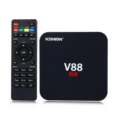 Android TV BOX Media player,υποστήριξη 4k, 3D βίντεο,4 πυρήνες - V88 SCISHION