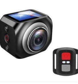 VR 360° Action Camera. Πανοραμική κάμερα με ασύρματο τηλεχειριστήριο ,HDMI - VR 360
