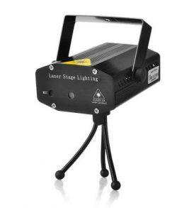 Φωτορυθμικό Laser LED Red & Green,κινούμενα σχήματα,με τρίποδο - EMS005 OEM