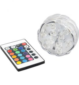 Υποβρύχια πολύχρωμη φωτορυθμική λαμπα RGB LED, με τηλεκοντρόλ - Superior ΟΕΜ