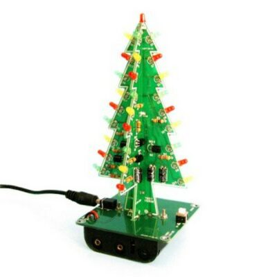 LED/ 3D Χριστουγεννιάτικο δέντρο ηλεκτρονικό παζλ,USB/μπαταρίες - CT301 OEM