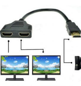 2 Port 1080P HDMI Splitter HUB ,έξοδος της ίδιας εικόνας σε 2 οθόνες - 2XSCR OEM