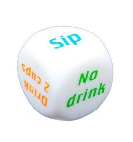 Μεγάλο ζαρι με έξι διαφορετικές ενδείξεις/εντολές για παιχνίδι ποτού με σφηνάκια - DGT6 OEM