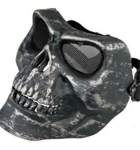 Paintball μάσκα κρανίο σκελετού, ανθεκτική αδιάβροχη με ιμάντα και σιτα - F36 OEM