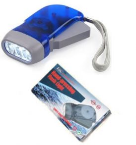 LED επαναφορτιζόμενος φακός με δυναμό χειρός,φορτίζει με την κίνηση - FL2888 OEM