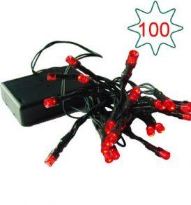 100 rice κόκκινα χριστουγεννιάτικα λαμπάκια ρεύματος με 8 προγράμματα - CHR100 OEM
