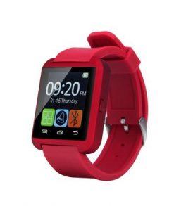 U8 Bluetooth Red Smartwatch, Έξυπνο ρολόι υπολογιστής,σύνδεση με τηλέφωνο - U8 OEM
