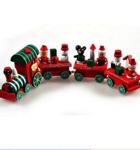 Χριστουγεννιάτικο τρενάκι με φιγούρες,ξύλινο παιχνίδι και διακοσμητικό - CHTRAIN OEM