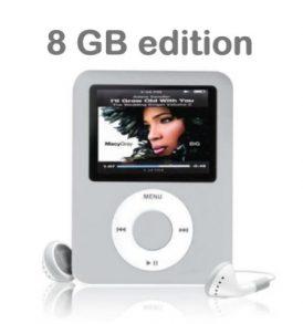 8GB Ψηφιακό MP3, MP4 Player,Ebook ραδιόφωνο, φωτογραφίες, βίντεο, Slim1.8G  OEM