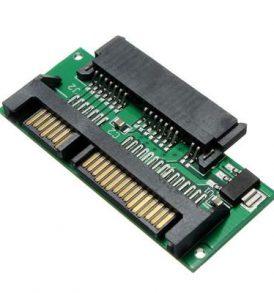 Κάρτα μετατροπέας από 1.8 Micro SATA MSATA SSD σε 7+15pins 2.5'' SATA - L04 OEM