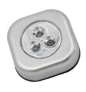 Αυτοκόλλητο 3 LED φωτάκι ασφαλείας  χρώμα ασημί , Push touch - SK299614 OEM
