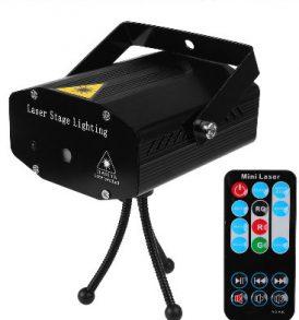 Φωτορυθμικό Laser LED Red Green,κινούμενα σχήματα,με Remote και τρίποδο - R&G500 OEM