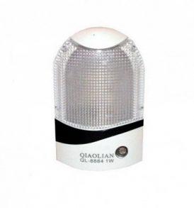 Φωτάκι Νυκτός Πρίζας με αισθητήρα φωτός και διακόπτη 1W Led - QL8844 QIAOLIAN
