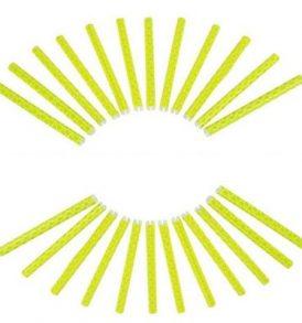 Ανακλαστικά νύχτας για ακτίνες τροχού ποδηλάτου σε χρώμα κίτρινο φωσφοριζέ - YD103 LIKAI