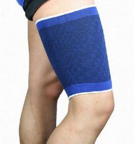 Ελαστική αθλητική επιμηρίδα ,χρώμα μπλε , προστασία μηρού thigh support - 908  AN BANG