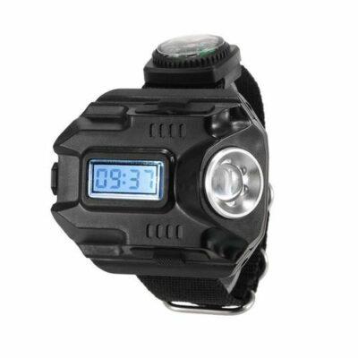 Ηλεκτρονικό USB ρολόι με LED φακό 300LM και πυξίδα, εργαλείο επιβίωσης - HT1188 OEM