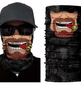 Μπαλακλάβα unisex, μάσκα λαιμού με φιγούρα Texas Laughing Smoker  - TLS2839 OEM
