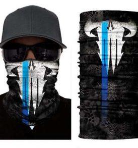 Μπαλακλάβα unisex, μάσκα λαιμού με φιγούρα Blue Blade Skull  - BBS2840 OEM