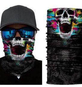 Μπαλακλάβα unisex, μάσκα λαιμού με φιγούρα Screaming Colorfull Skull  - SCS2837 OEM