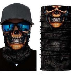 Μπαλακλάβα unisex, μάσκα λαιμού με φιγούρα Brown Pierced Skull  - BPS2838 OEM