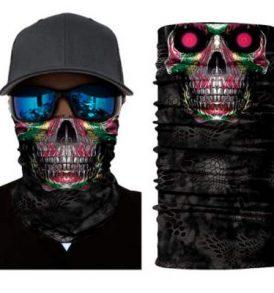 Μπαλακλάβα unisex, μάσκα λαιμού με φιγούρα Purple Eyes Skull  - PES2834 OEM