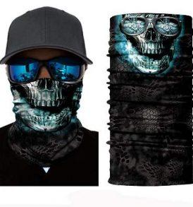 Μπαλακλάβα unisex, μάσκα λαιμού με φιγούρα Sunglasses Smoked Skull  - SSS2835 OEM