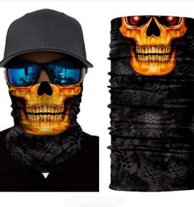 Μπαλακλάβα unisex, μάσκα λαιμού με φιγούρα Nocturnal Vampire Skull  - NVS2842 OEM
