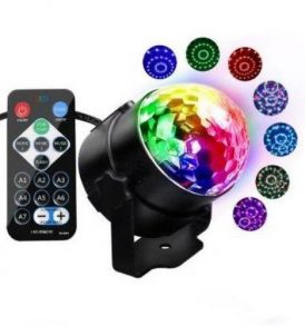 LED Περιστρεφόμενος φωτορυθμικό με τηλεκοντρολ - Led Party Light  10PCB OEM
